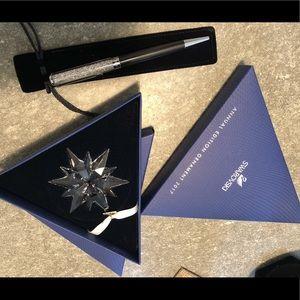Swarovski Crystal limited edition ornament & pen